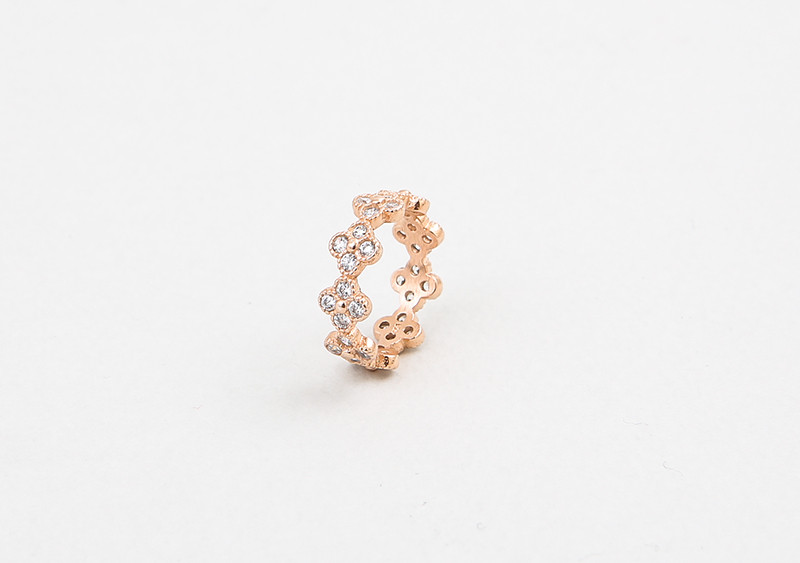 좋은옷 만드는 럭스위즈닷컴HN71AC_224  Clover deco diamond  & gold color ring